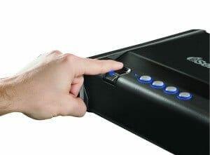 safe with fingerprint locking system